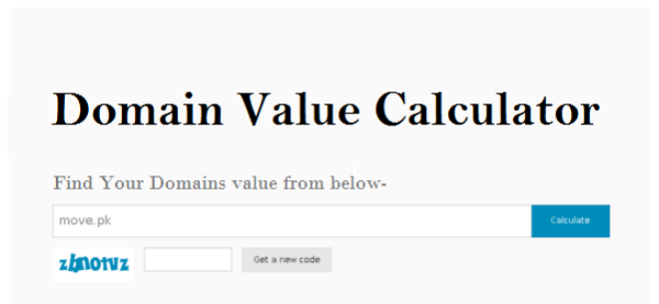 Domain value calculator