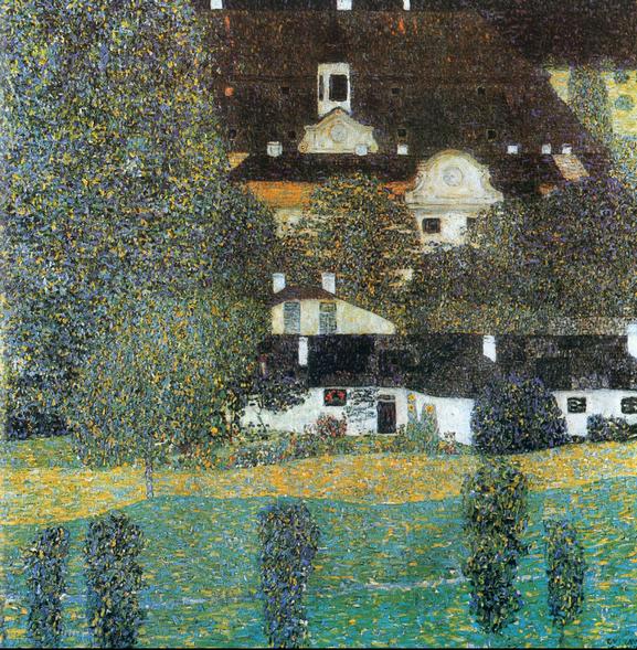 Klimt Schloss Kammer am Attersee II 1909