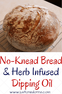 No-Knead Bread and Herb Infused Dipping Oil