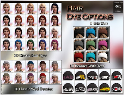 Sharonda Hair and Street Fashion Beanie for Genesis 3 Female