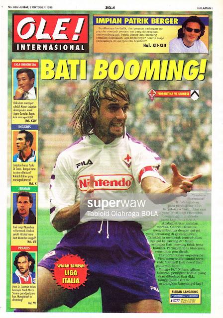 GABRIEL BATISTUTA LEGA CALCIO 1998 FIORENTINA VS UDINESE