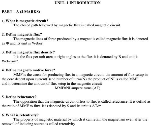 Basic Electrical Engineering Interview Questions And Answers Pdf