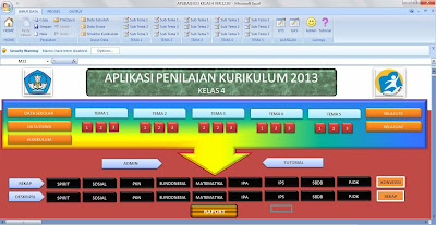 Download Aplikasi Raport Kurikulum 2013 Kelas 4 SD