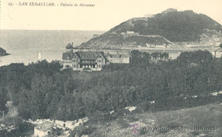 Palacio de Miramar. Postal Antigua