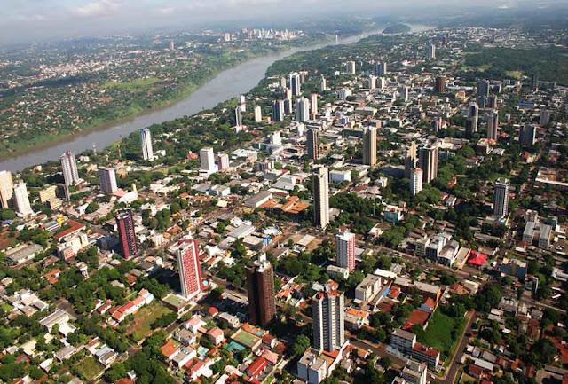 Vista aérea de Foz do Iguaçu