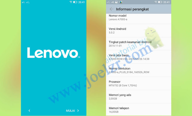 firmware lenovo a7000 plus original