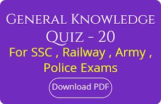 General Knowledge Quiz - 20