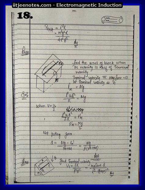 Electromagnetic Induction Notes IITJEE4