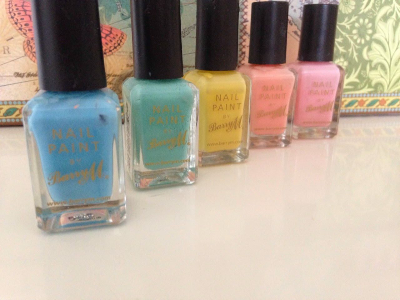 Barry M Nail Polishes in Pastel Shades