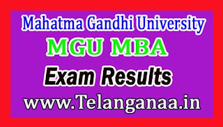 MGU MBA II Sem Regular Examination Results 2016