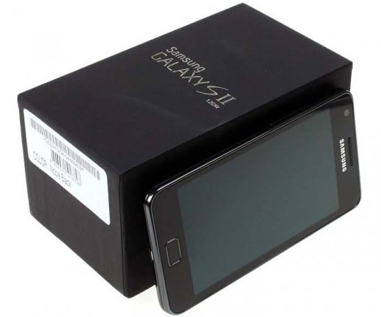 Samsung galaxy s ii handset with android ice cream sandwich rom