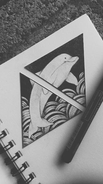 triangle tattoo desgin, dolphin tattoo design, couple tattoo design