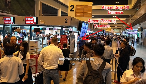 Check In Counters at Don Mueang Airport