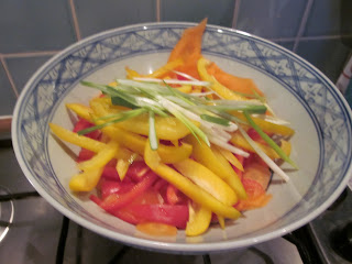sliced vegetables