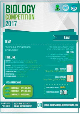 Lomba Essay Competition Nasional For Better Future 2017 | UIN Jakarta | Mahasiswa