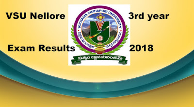 Manabadi VSU Degree 3rd year Results 2018, VSU Nellore final year Results 2018 Schools9