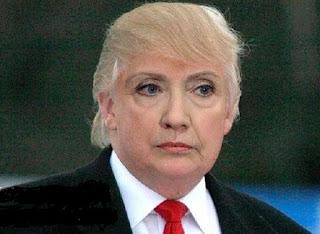 Donald Clinton - Hillary Clinton with Donald Trump's hair