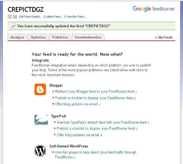Cara Terbaru Daftarkan Blog ke RSS Feedburner