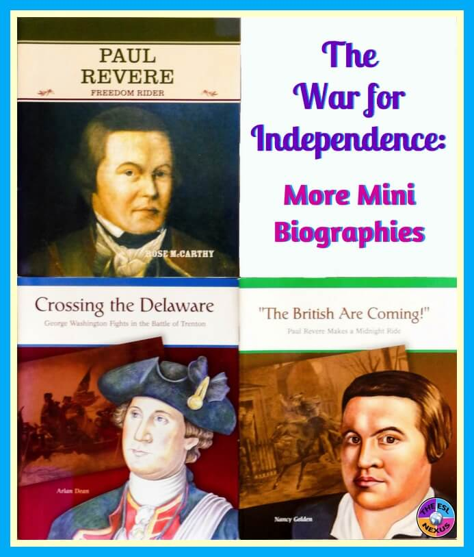 Find lots of books and other resources about teaching the War for Independence to ELLs in this blog post | The ESL Nexus