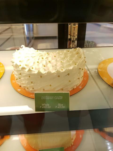Leona's Bakeshop Durian Cake @P43 per slice