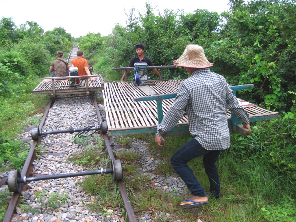 Battambang Cambodia  city photo : All About Battambang : Bamboo Train. Battambang, Cambodia.