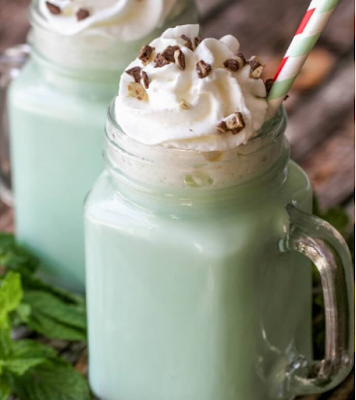 MINT WHITE HOT COCOA #drink