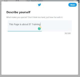 Enter twitter Bio Data