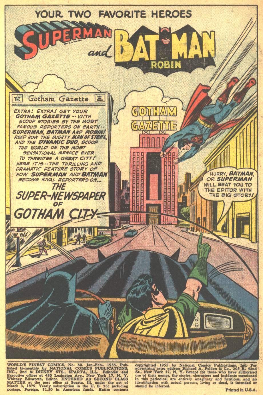 Read online World's Finest Comics comic -  Issue #80 - 3