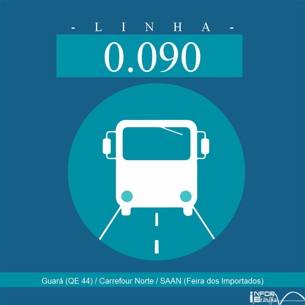 Horário de ônibus e itinerário 0.090 - Guará (QE 44) / Carrefour Norte / SAAN (Feira dos Importados)