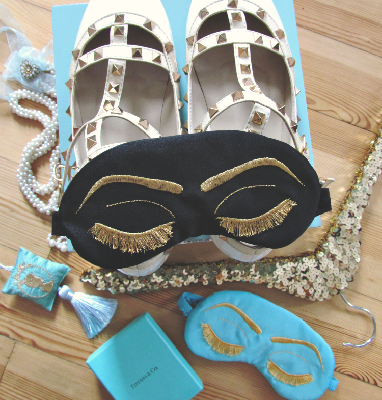 The 'Workaholic' sleep mask by Sleepy Cottage styled by Glitter & Bow blog
