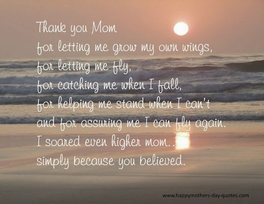 nice thank you mom quotes from daughter for mother s day 2015
