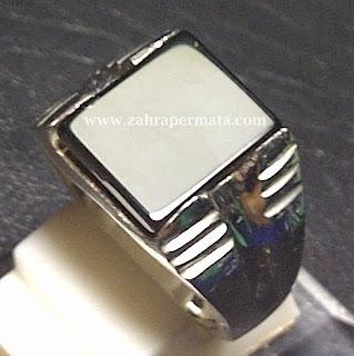 Cincin Batu Permata Black Onyx - ZP 395