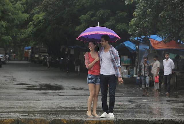 Ribbon, raining, Kalki Koechlin and Sumeet Vyas