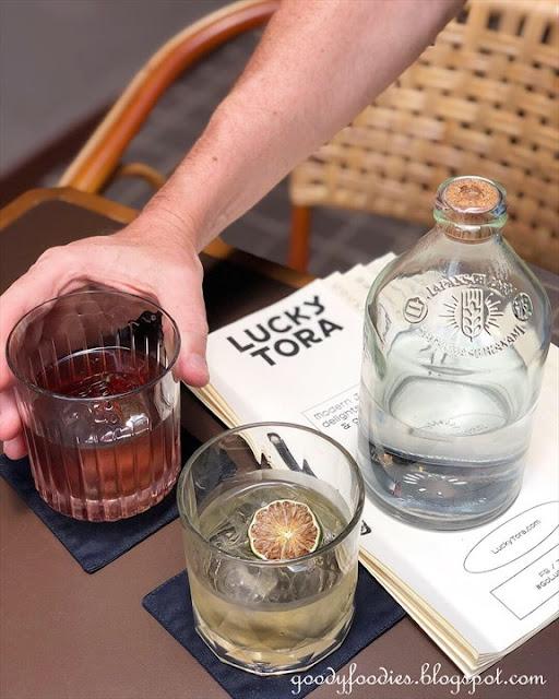Sake cocktails, Lucky Tora