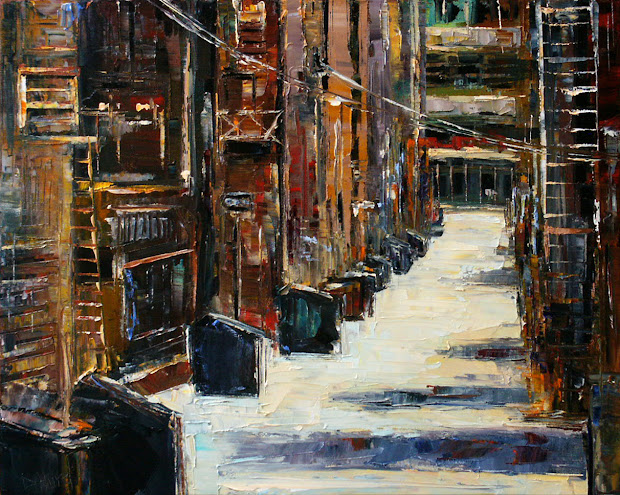 Debra Hurd Original Paintings And Jazz Art Urban Architecture Cityscape Alley Painting