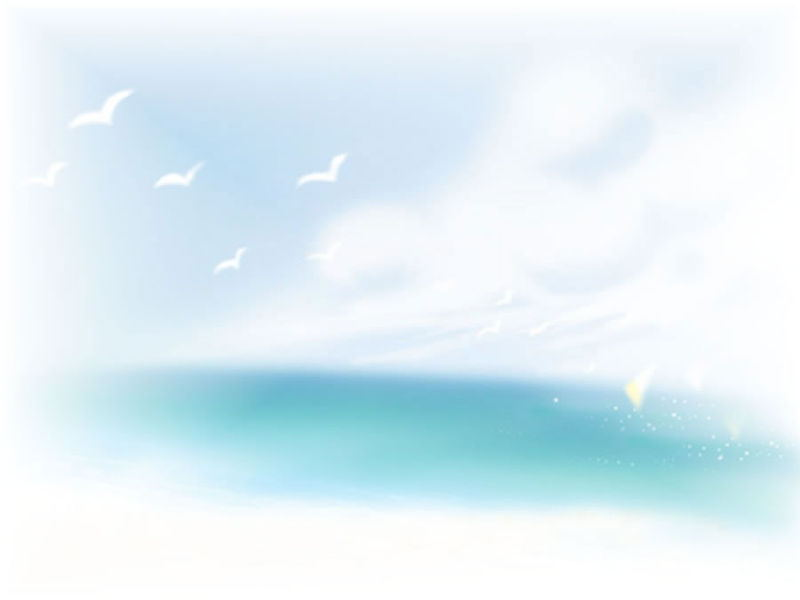 Blue sky and white clouds PowerPoint background