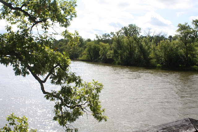 View of the Rock River from Black Hawk State Historic Site