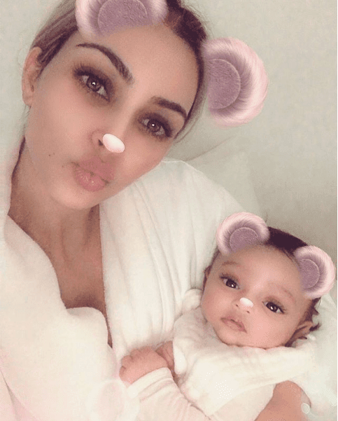 Luxury Makeup - the world's first photo of kim kardashian and kanye West's new baby