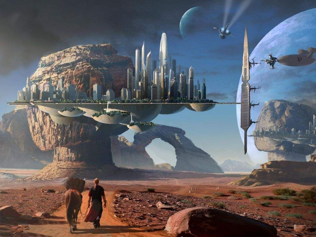 Futuristic Space City