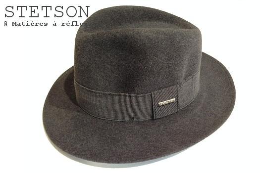 Stetson chapeau femme gris large bord