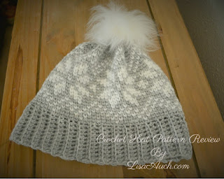 free crochet pattern HAT, Easy crochet snowflake graph crochet pattern