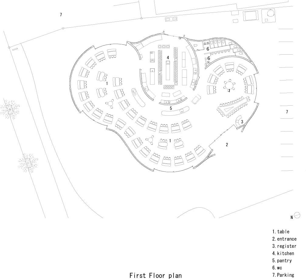 Floor plan drawing © courtesy of takeshi hosaka architects