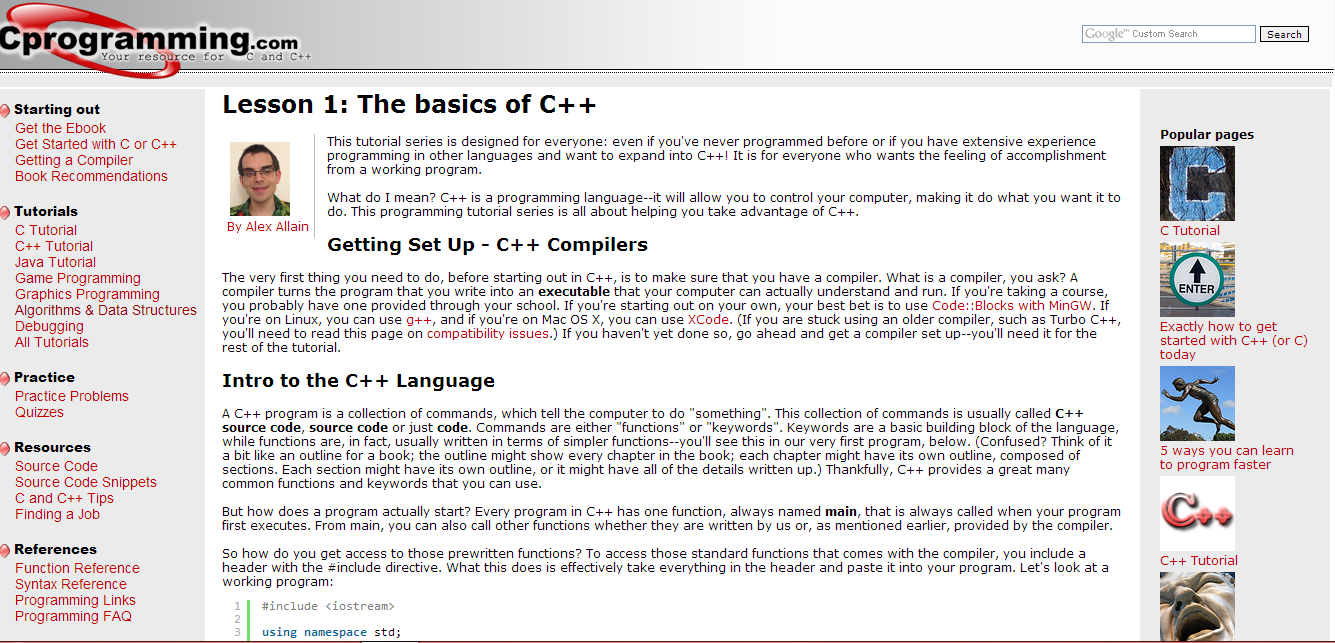 Top 10 Websites For Learning C++