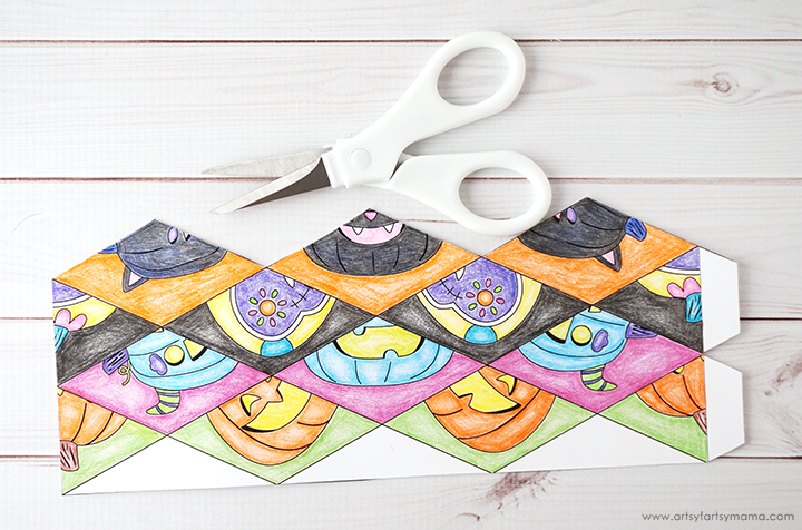 Free Printable Halloween Flextangle (Kaleidocycle)