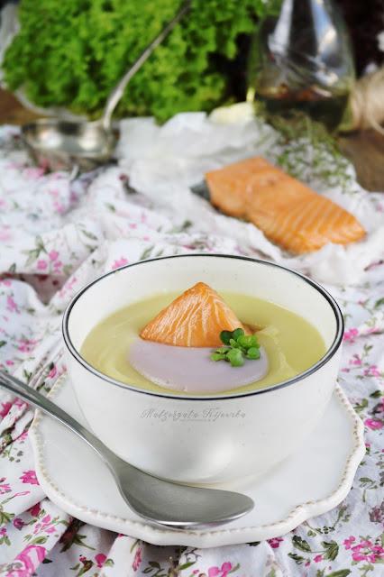 fioletowe ziemniaki, zupa krem z fioletowych ziemniaków, jesienna zupa, daylicooking
