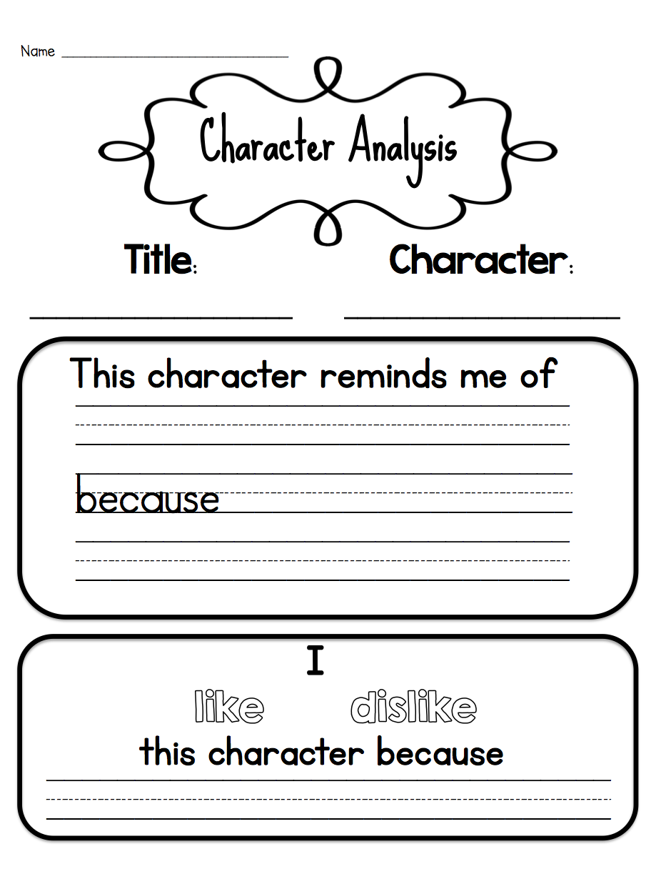Sarahu0026#39;s First Grade Snippets: Teaching Character Analysis ...