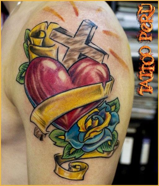 Tatuajes De Cruz Corazon