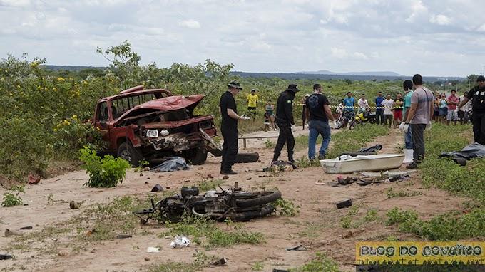 Grave acidente de trânsito envolvendo D-20 pau de arara deixa vários mortos e feridos na PI-213 em Cocal