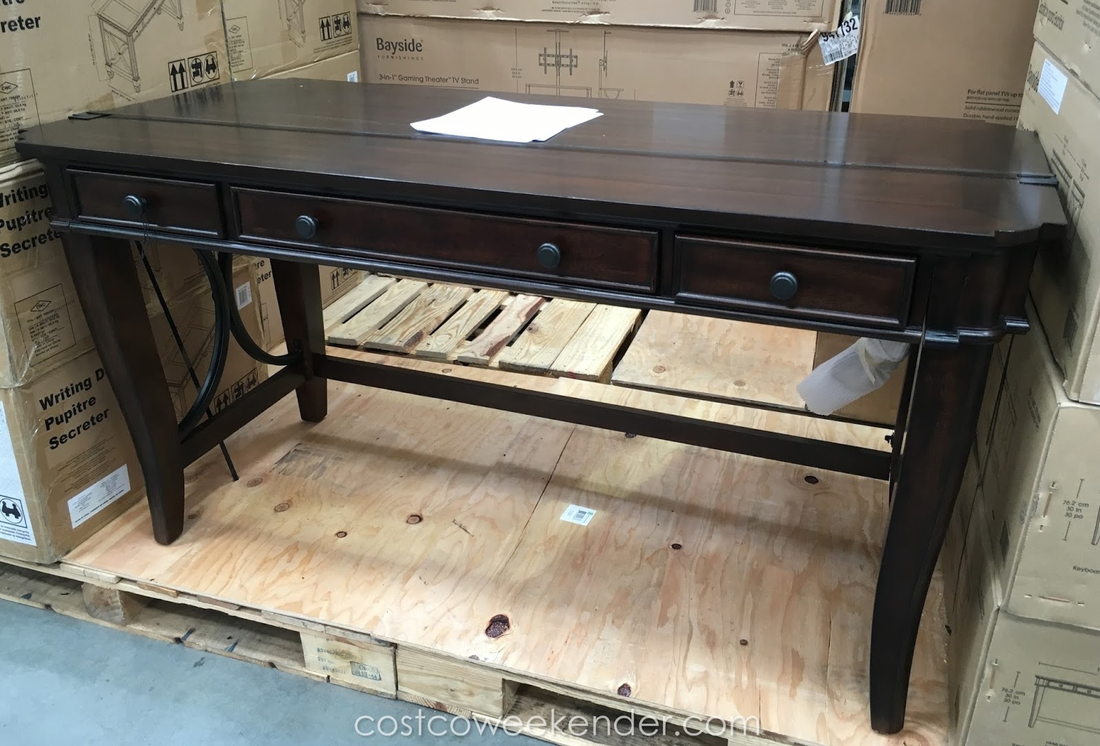 Bayside Furnishings Writing Desk Great For Any Home Office