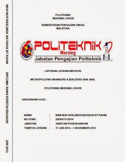 Laporan Akhir Latihan Industri Jun 2013 October 2013